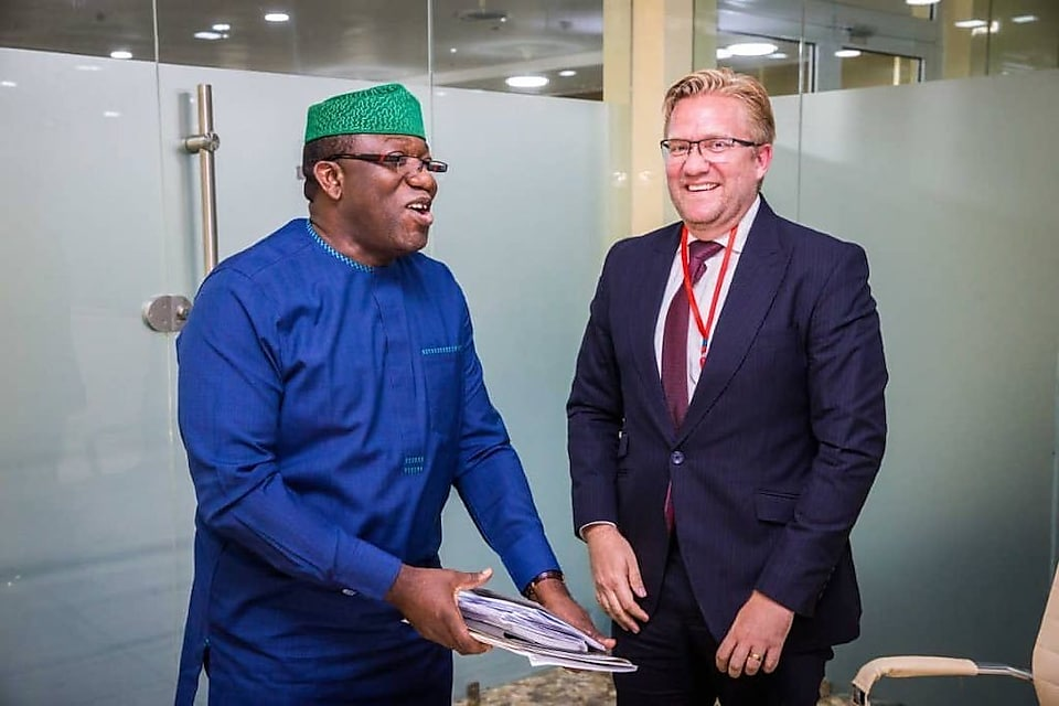 dr wiebe and governor kayode fayemi of ekiti state