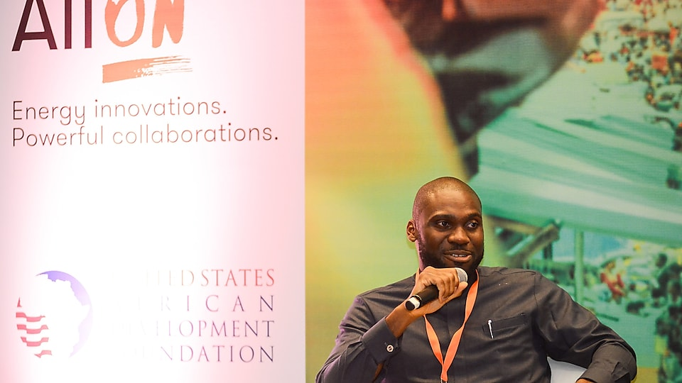 Chukwuka Isichei during his panel on The Nigeria Electrification Program