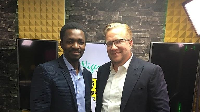 Femi Adeyemo CEO Arnergy (L) and Wiebe Boer CEO All On (R)